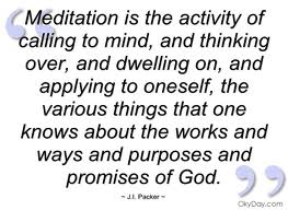 J.I. Packer on Meditation