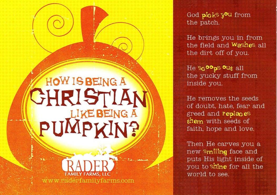 Reformation Day Christianu003dPumpkin