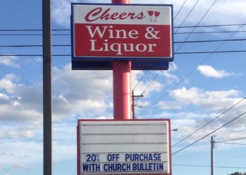 I got a chuckle out of this sign that appeared on ChristianityToday.com. But seriously?