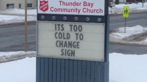 Christianity Today Church Sign