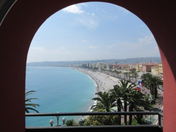 View from our balcony in Nice, France
