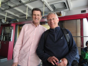 Me and Paul Miller in a Swiss cable car