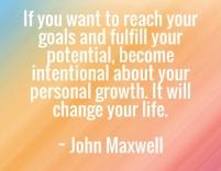 John Maxwell on Goals