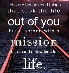 Jobs and mission