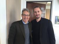 Joseph Fiennes and Eric Metaxas