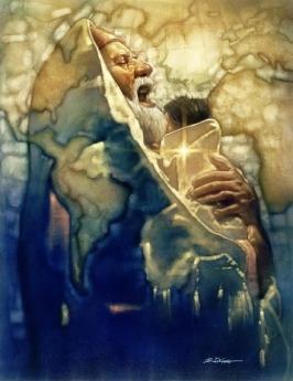 Simeon's Moment: Artwork by Ron DiCianni Luke 2:30-32